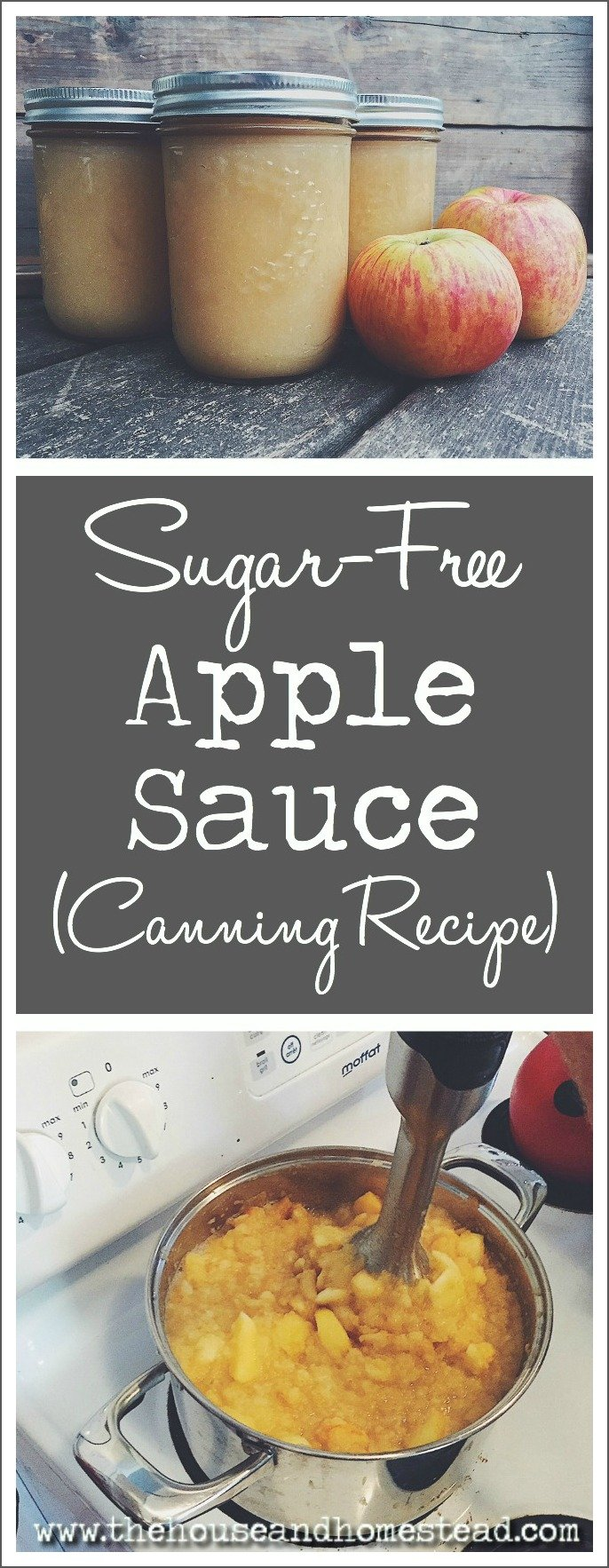 This sugar-free homemade applesauce is great for baking, baby food or eating straight
