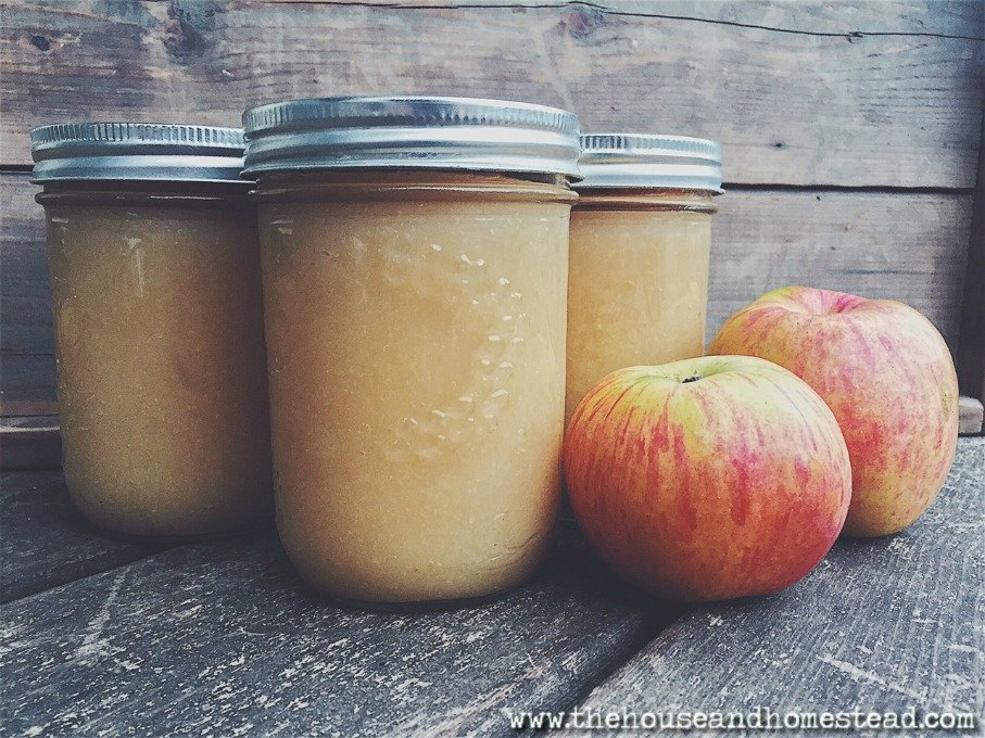 Sugar-Free Applesauce (Canning Recipe
