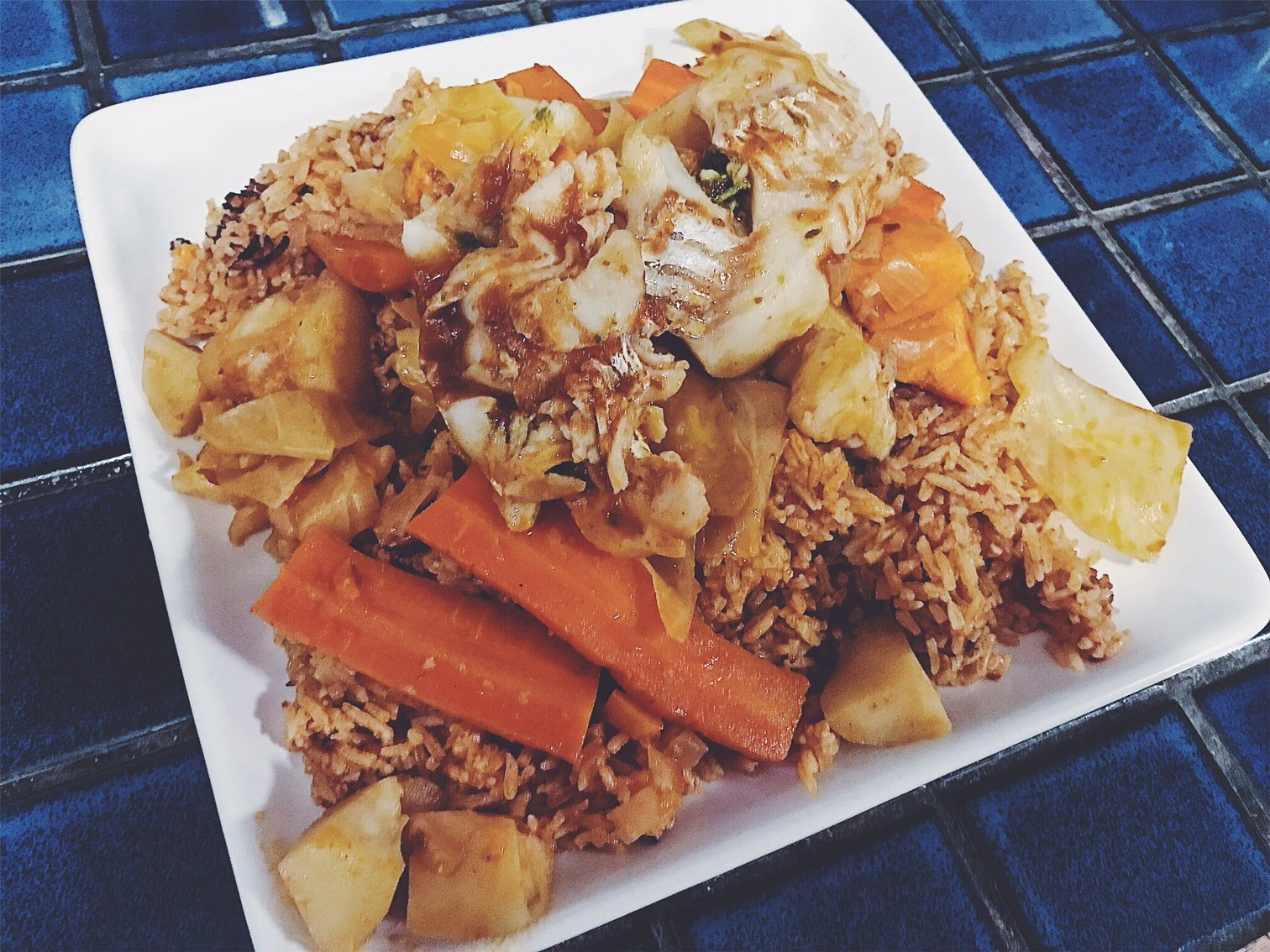 Thieboudienne Traditional West African Fish And Rice Dish